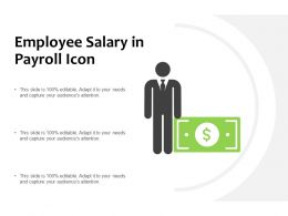 Employee Salary In Payroll Icon