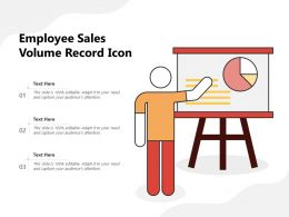 Employee Sales Volume Record Icon