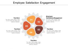 Employee Satisfaction Engagement Ppt Powerpoint Presentation Pictures Professional Cpb