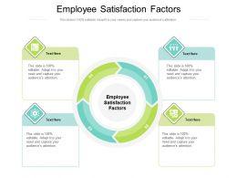 Employee Satisfaction Factors Ppt Powerpoint Presentation Infographics Format Cpb
