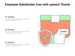 Employee Satisfaction Icon With Upward Thumb