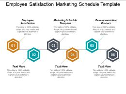 Employee Satisfaction Marketing Schedule Template Development New Product Cpb