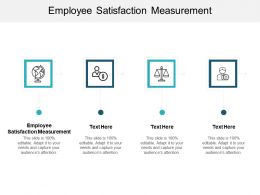 Employee Satisfaction Measurement Ppt Powerpoint Presentation Example Introduction Cpb