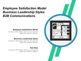 Employee Satisfaction Model Business Leadership Styles B2b Communications Cpb