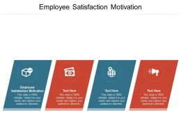 Employee Satisfaction Motivation Ppt Powerpoint Presentation Model Graphics Cpb