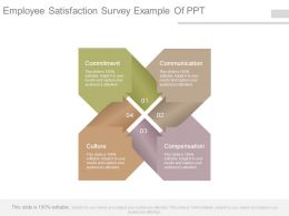 Employee Satisfaction Survey Example Of Ppt