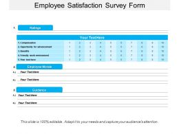 Employee Satisfaction Survey Form Powerpoint Shapes