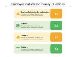 Employee Satisfaction Survey Questions Ppt Powerpoint Presentation Styles Structure Cpb
