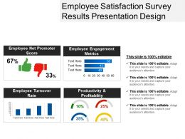 Employee Satisfaction Survey Results Presentation Design