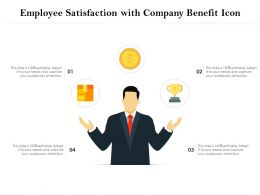 Employee Satisfaction With Company Benefit Icon
