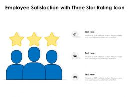 Employee Satisfaction With Three Star Rating Icon