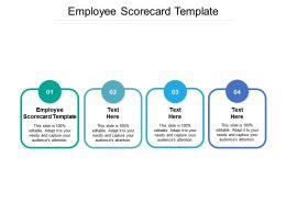 Employee Scorecard Template Ppt Powerpoint Presentation Slides Sample Cpb
