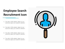 Employee Search Recruitment Icon