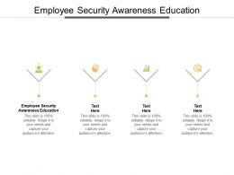 Employee Security Awareness Education Ppt Powerpoint Presentation Inspiration Show Cpb
