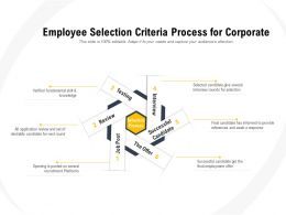 Employee Selection Criteria Process For Corporate