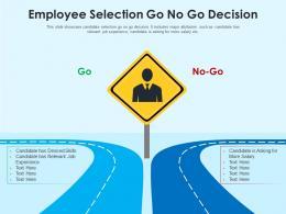 Employee Selection Go No Go Decision