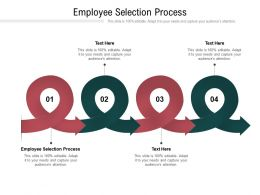 Employee Selection Process Ppt Powerpoint Presentation Ideas Format Ideas Cpb