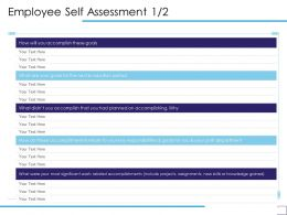 Employee Self Assessment Accomplish Ppt Powerpoint Presentation Pictures Images