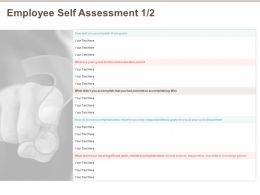 Employee Self Assessment Accomplishing Ppt Powerpoint Presentation Infographics Show