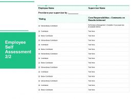 Employee Self Assessment Achieved Ppt Powerpoint Presentation Infographic Template