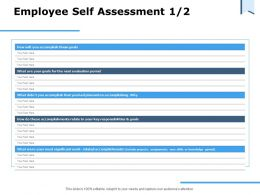 Employee Self Assessment Evaluation Period Ppt Powerpoint Presentation Portfolio Topics