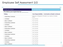 Employee Self Assessment Extraordinary Contributor Ppt Powerpoint Presentation Infographics