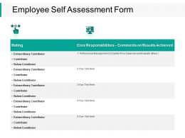 Employee Self Assessment Form Table Ppt Powerpoint Presentation Gallery Inspiration