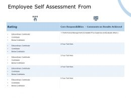 Employee Self Assessment From Extraordinary Contributor Ppt Powerpoint Presentation Summary Outline