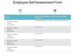 Employee Self Assessment From Ppt Powerpoint Presentation File Rules
