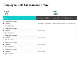 Employee Self Assessment From Ppt Powerpoint Presentation Inspiration