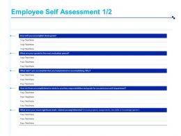 Employee Self Assessment Key Responsibilities Ppt Powerpoint Presentation Inspiration Guide