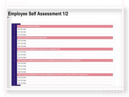 Employee Self Assessment Key Responsibilities Ppt Powerpoint Slideshow