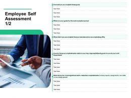 Employee Self Assessment Knowledge Gained Ppt Powerpoint Presentation Diagram Images