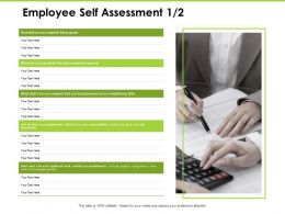 Employee Self Assessment Responsibilities Ppt Powerpoint Presentation Show Background Image