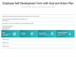 Employee Self Development Form With Goal And Action Plan