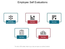 Employee Self Evaluations Ppt Powerpoint Presentation Diagrams Cpb