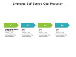 Employee Self Service Cost Reduction Ppt Powerpoint Presentation Professional Background Cpb