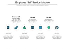 Employee Self Service Module Ppt Powerpoint Presentation Slides Mockup Cpb