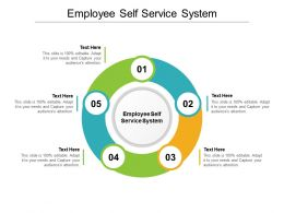 Employee Self Service System Ppt Powerpoint Presentation Pictures Tips Cpb