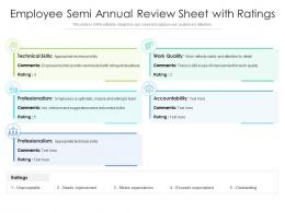 Employee Semi Annual Review Sheet With Ratings