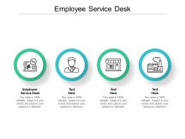 Employee Service Desk Ppt Powerpoint Presentation Infographic Template Format Cpb