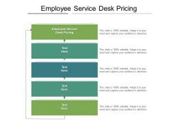Employee Service Desk Pricing Ppt Powerpoint Presentation Gallery Brochure Cpb