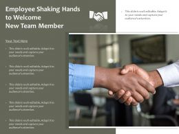 Employee Shaking Hands To Welcome New Team Member