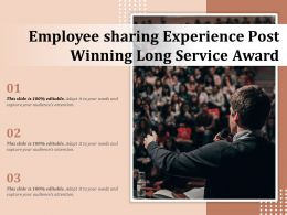 Employee Sharing Experience Post Winning Long Service Award