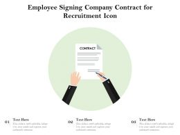 Employee Signing Company Contract For Recruitment Icon
