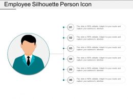 Employee Silhouette Person Icon Ppt Diagrams