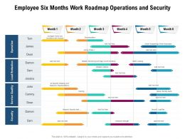 Employee Six Months Work Roadmap Operations And Security