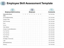 Employee Skill Assessment Employee Comments Ppt Powerpoint Presentation Gallery
