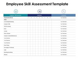 Employee Skill Assessment Inventory Ppt Powerpoint Presentation Pictures Display