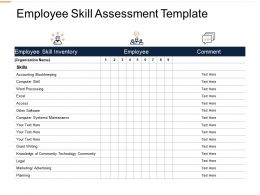 Employee Skill Assessment Maintenance Ppt Powerpoint Presentation Slides